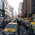 Taxistas de la Ciudad de Buenos Aires protestan contra Uber