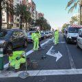 Se refuerza la exclusividad del carril EMT-Taxi de Germanies hacia la calle Russafa en Valencia