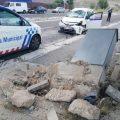 Un taxista de Valladolid, ileso tras haber volcado