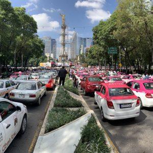 protestas taxistas mexico