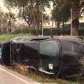Un VTC sufre una salida de vía en San Juan de Aznalfarache
