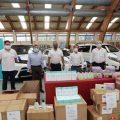 El taxi de Marbella recibe una donación de 350 kits sanitarios procedentes de Emiratos Árabes