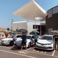 Los taxistas de Almería denuncian que los toldos siguen sin llegar a las paradas
