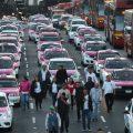 Taxistas de México se manifestaron en protesta contra las aplicaciones digitales