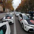 Las asociaciones del taxi de Madrid trasladan sus peticiones a Borja Carabante tras la marcha lenta